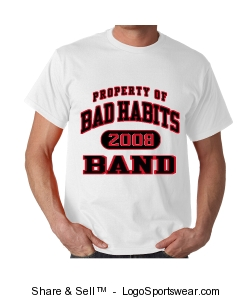 BAD HABITS BAND T-SHIRT Design Zoom
